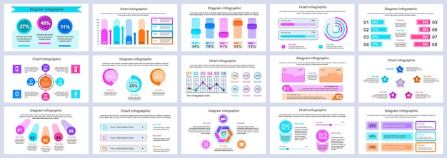 Bundle business and finance infographics presentation slides template