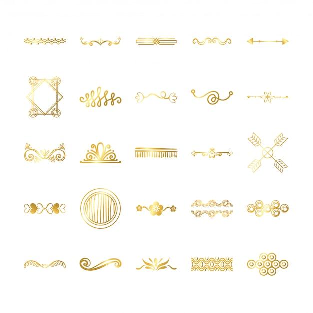 Bundle of decorative element set