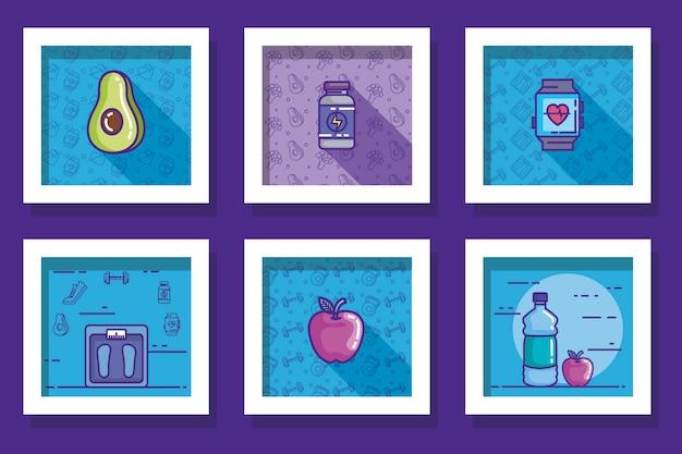 Bundle of designs of lifestyle healthy