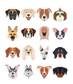 Hand Drawn Dogs Of Different Breeds Vector Free Download