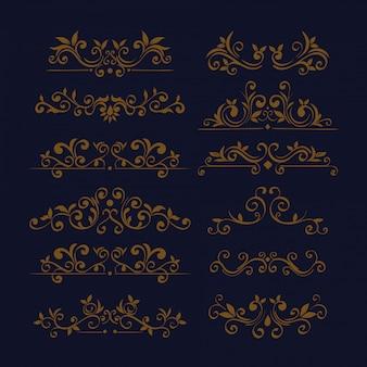 Bundle of elegant ornamental borders frames