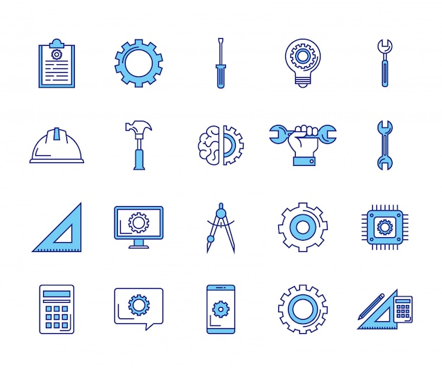 Tools cross settings symbol for interface Icons | Free Download