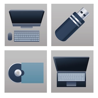 Bundle of four office supplies