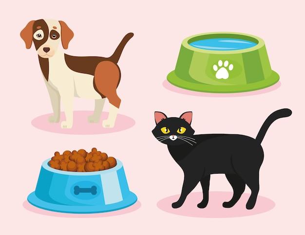 Bundle of four pet shop set