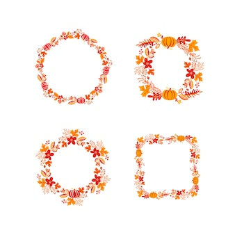 Bundle frame autumn bouquet wreath