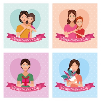Bundle of happy mothers day cards