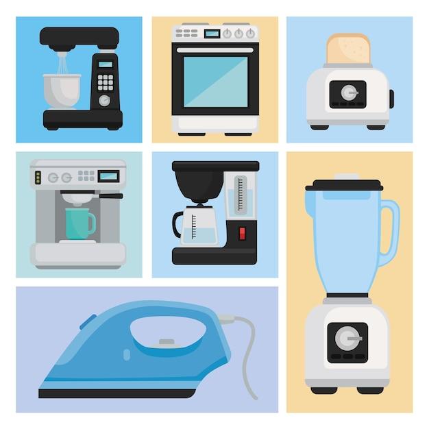 Bundle of icons appliances