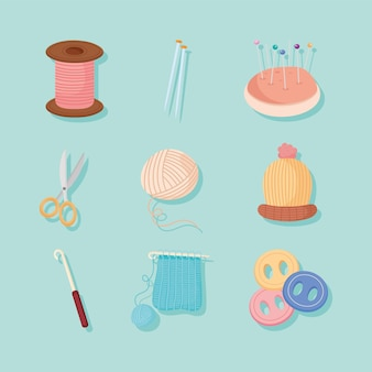 Bundle of icons for knit