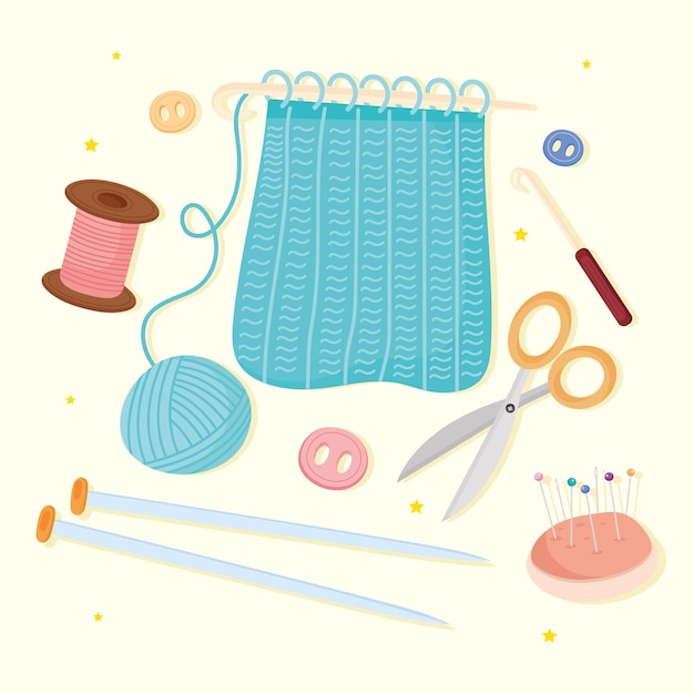 Bundle of icons sewing