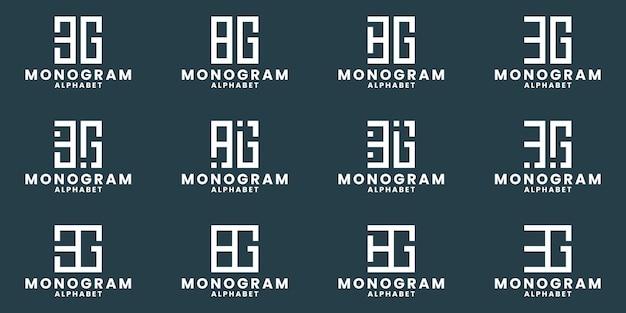 Bundle initials b g combination monogram logo design