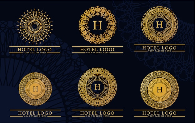 Bundle luxury and elegant logo monogram