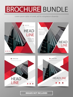 Bundle modern brochure flyer template design set