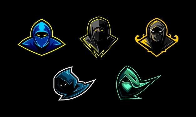 Bundle of ninja mascot set