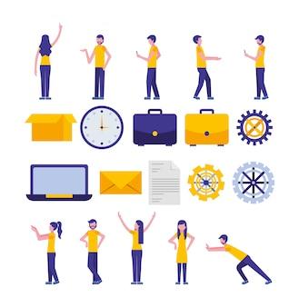 Пакет иконок для сообщества и социальных сетей