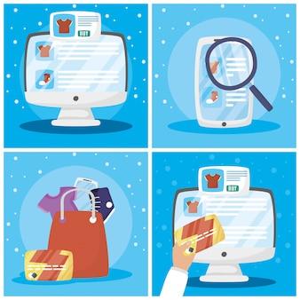 Пакет иконок для покупок в интернете
