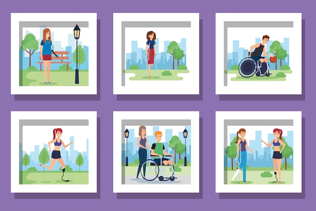 Bundle of people disabled scenes