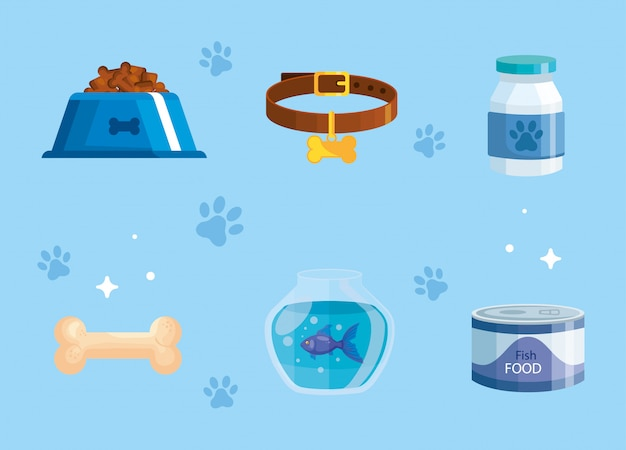 Bundle of pet shop elements