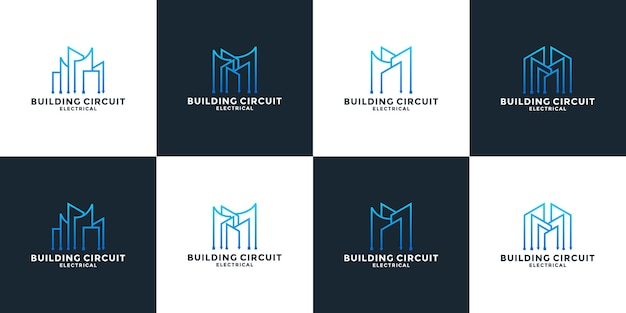 번들 부동산 기술 로고 디자인 서식 파일