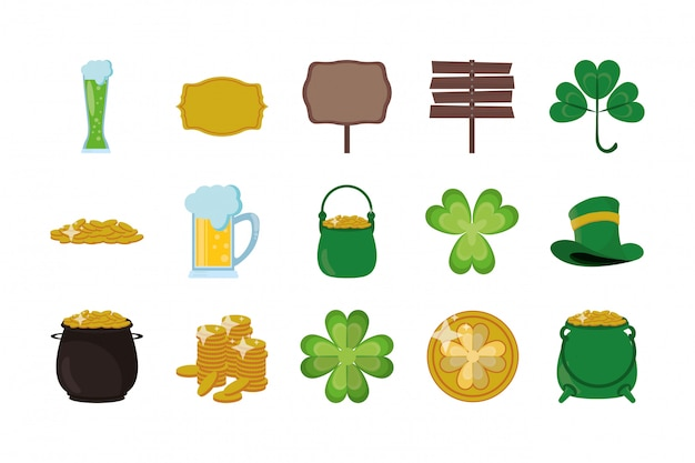 Bundle of saint patricks day icons