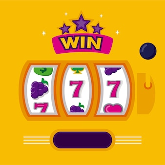 Bundle of slots casino set icons vector illustration design