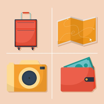 Bundle of travel icons