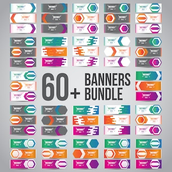 Bundles of vector abstract design banners