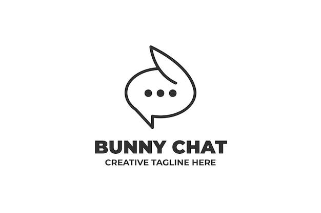 バニーバブルチャットビジネスロゴ