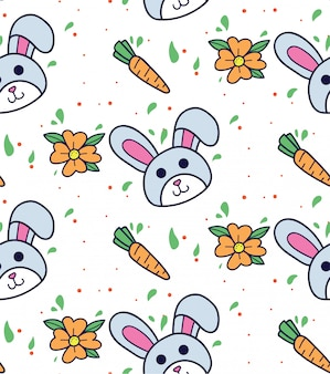 Bunny and carrot background