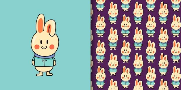 Bunny cartoon hand drawn style