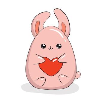 Bunny character kawaii style