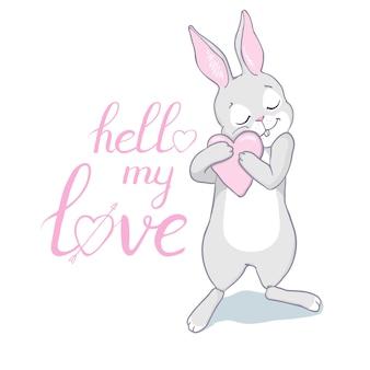 Bunny cute print.