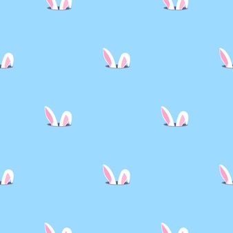 Bunny ears looks out of the hole. rabbit child seamless pattern. can be used for the decoration of the nursery, children's clothing, kids accessories, gift wrapping, digital paper.