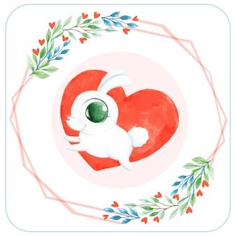 Bunny heart background