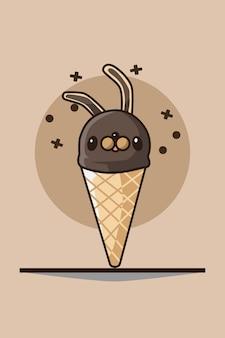 バニーアイスクリーム