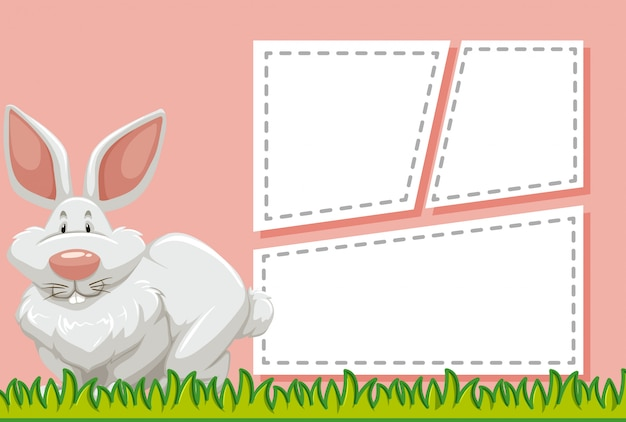 Bunny on note template