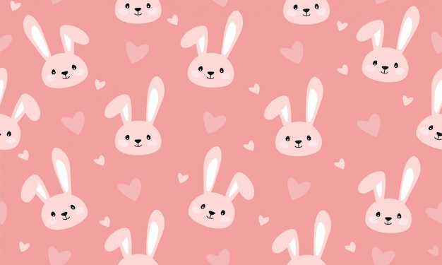 Bunny print seamless pattern for kids