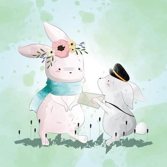 토끼는 편지를받습니다