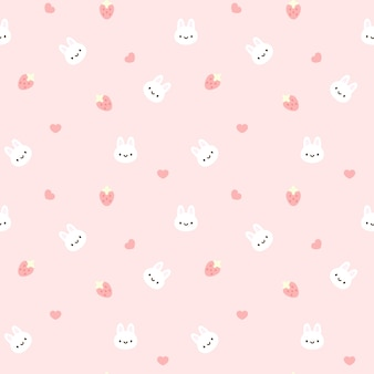Bunny Seamless Pattern Background