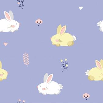 Bunny seamless pattern