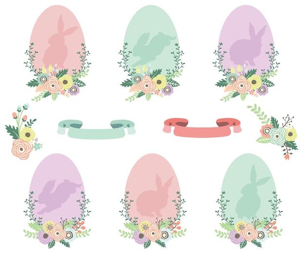 Коллекции пасхальных яиц силуэт кролика