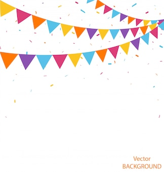 Bunting flags decoration design