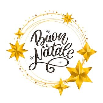 Buon natale lettering