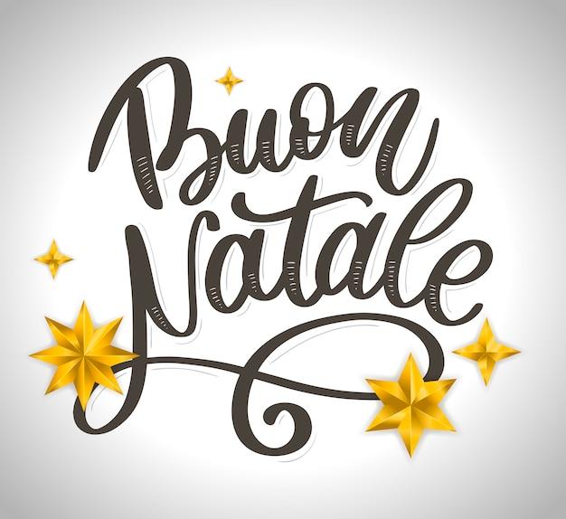 Buon natale. lettering
