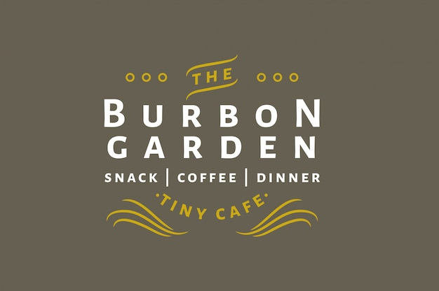 Burbon garden - snack | coffee | dinner - vintage logo