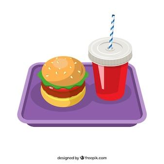 Burger и мягкий напиток