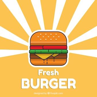 ミニマリストスタイルのハンバーガーの背景