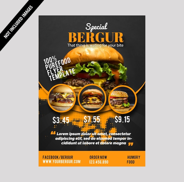 Burger brochure