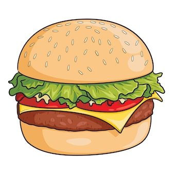 Burger cartoon