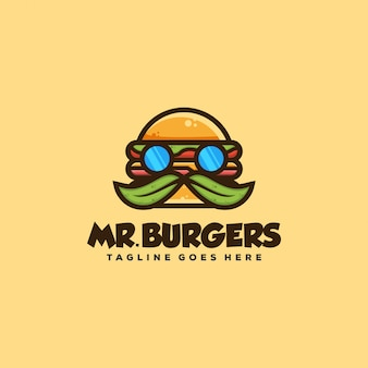 Burger concept illustration