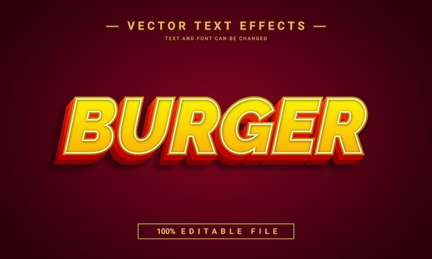 Burger editable text style